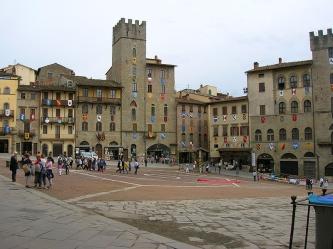 Piazza Grande v Arezzo